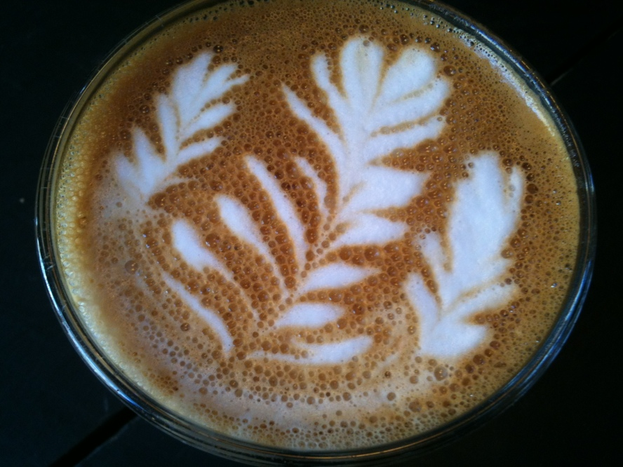 Glorious latte by a nice talented barista