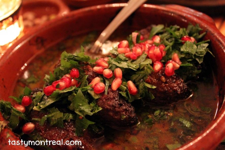 Kaza Maza - Kefta with pomegranate tahini sauce