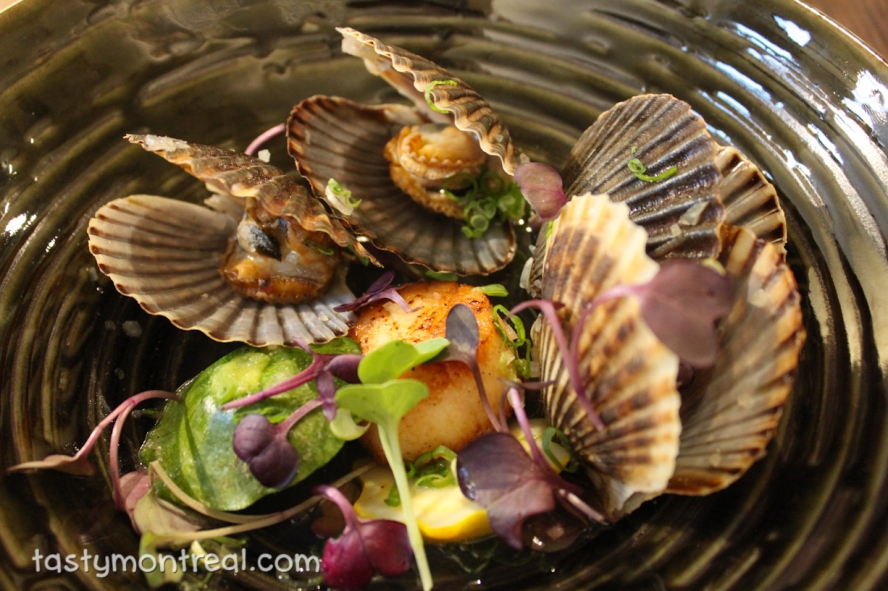 Restaurant Park - Pan seared scallop and bay scallops in sake