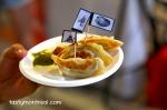 Samoyozas : duck, tofu and scallops