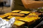 Corn bread grilled cheese