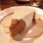 Maison Publique - Gâteau gingembre avec crème anglaise