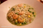Madre - Shrimp risotto, corn sauce, coriander